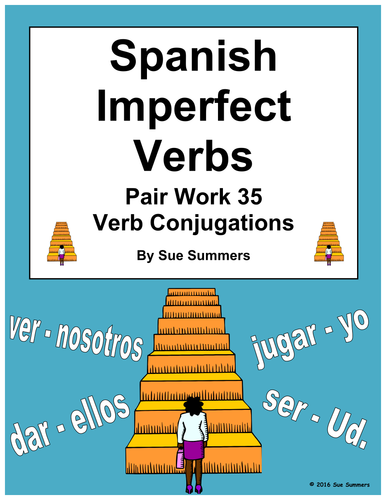 spanish imperfect verbs pair work las escaleras activity and quiz by suesummersshop teaching. Black Bedroom Furniture Sets. Home Design Ideas