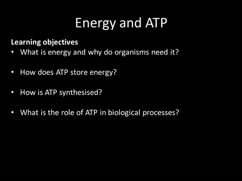 AQA AS & A-level Biology (2016 specification). Section 1 Topic 2: Nucleic acids. 3 Energy & ATP
