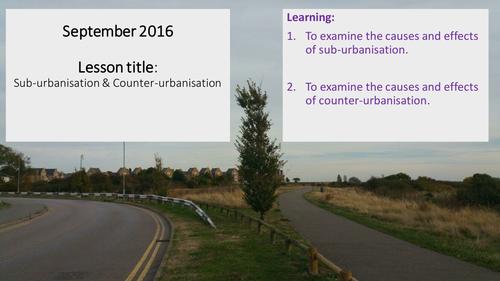 Sub-urbanisation and counter-urbanisation
