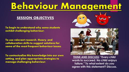 Behaviour Management CPD Session!