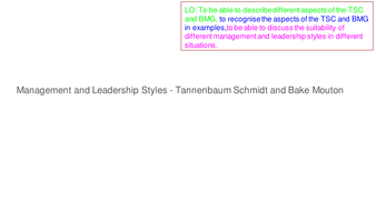 Management and Leadership Styles AQA AS Business