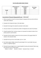 A-Level Chemistry Redox Titration Worksheet