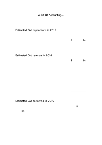 templates for introductory lesson on fiscal policy