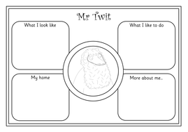 THE TWITS teaching pack- worksheets, activities, display