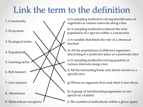 AQA A-level Biology (2016 specification). Section 7 Topic 19: Populations 2 Variation in size