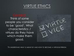 New AS Ethics AQA Spec - Aristotle and Virtue Ethics