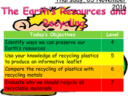 Earth's Resources and Recycling