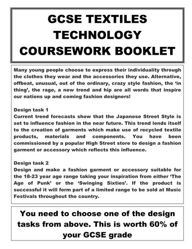 GCSE Textiles Coursework Booket AQA