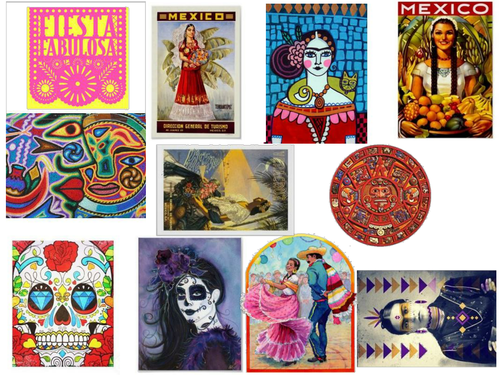 Mexico Images for Mood Boards Textiles Technology.