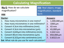 NEW AQA GCSE Cells 8 Calculating Magnification
