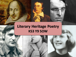 """KS3 """"Literary Heritage Poetry"""" unit of work, with a focus on the NEW GCSE English Literature."""