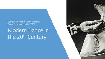 NEW A Level Dance: Rambert Dance Company 1966 - 2002