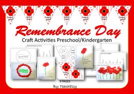 Remberance Day Craft Preschool And Kindergartenpdf