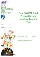 Food Prep & Nutrition Baseline Assessment