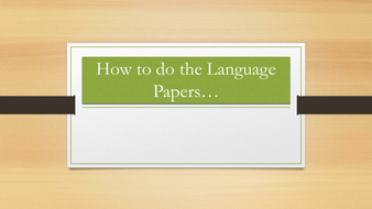 Hints and Tips for AQA Paper 1 and Paper 2 English Lanuage Reading Sections