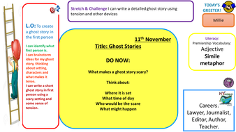 Year 7 ghost stories lesson
