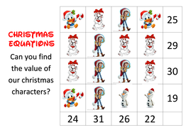 Disney Christmas Problem Solving Simultaneous Equations By Jillatha
