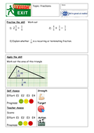 Fractions mastery and problem solving