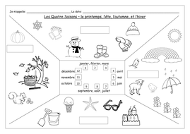 french the four seasons les quatre saisons worksheets by labellaroma teaching resources. Black Bedroom Furniture Sets. Home Design Ideas