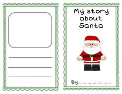 Santa Story Writing Template Booklet By Mooncat6 Teaching