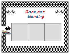 Race car blending game - CVC words