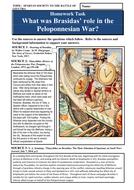 What was Brasidas' role in the Peloponnesian War?