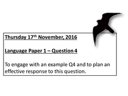 AQA New Spec Language Paper 1, Question 4