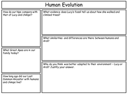human evolution worksheetpptx - Evolution Worksheet