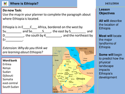 Where is Ethiopia? by alicenutman | Teaching Resources