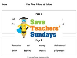 the five pillars of islam ks1 lesson plan worksheets and plenary