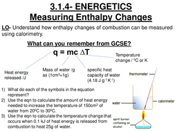 Calorimetry for AS level | Teaching Resources