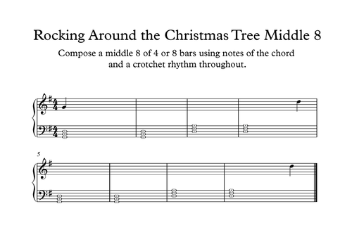 Catchy Collections of Rock Around The Christmas Tree Chords - Catchy ...