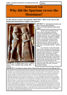 Why did the Spartans revere the Menelaion?