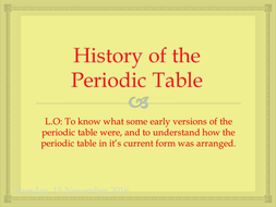 history of the periodic table new aqa chemistry section 412 specification