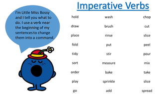 Image result for imperative verbs