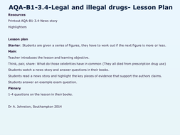 AQA-B1-3.4-Legal-and-illegal-drugs.pptx