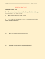 Solved  Limiting Reagent Worksheet    1  Given The Followi together with Worksheets  Stoichiometry Limiting Reagent Worksheet as well Worksheet 5 3 limiting reactants  1141821   Myscres also Limiting Reagent Worksheet additionally Limiting Reactant and Percent Yield Worksheet Answers New also Limiting Reagent Worksheet Answers   Rcn together with  further Stoichiometry Worksheet 1 The best worksheets image collection in addition Limiting Reagent Worksheets  1 2 pdf   behschem moreover limiting reagent worksheet also theoretical and percent yield in addition  as well LIMITING REACTANT AND YIELD WORKSHEET WITH ANSWERS by kunletosin246 also  besides Limiting Reagent Worksheet Answers Limiting Reagent Worksheet together with Limiting Reagent Worksheet  1   PDF additionally . on limiting reagent worksheet 1 answers
