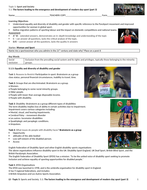 A-level PE EDEXCEL (2016) 5.1: Factors leading to emergence & development of modern sport (P3)