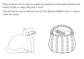 Lighthouse keepers lunch coloring book pages ~ The Lighthouse Keeper's Lunch story resource pack ...