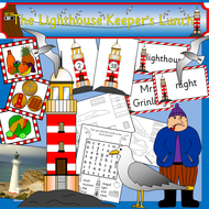 The Lighthouse Keeper's Lunch story resource pack- Powerpoints, games, literacy, story telling