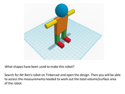 Volume and Surface Area using Tinkercad