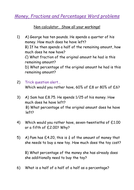 Fractions, and Percentages with Money word problems by biggles1230 ...