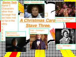 A Christmas Carol Stave 3 lessons and resources.
