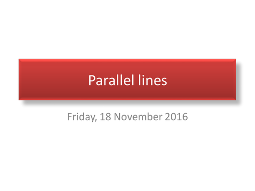 Angles associated with Parallel lines