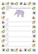 Dear Zoo Writing Frame