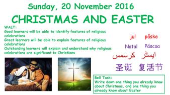 Edexcel 2016 New GCSE Year 10 Living the Christian Life - (Religious Celebrations)