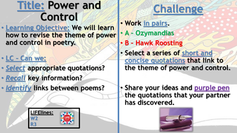 WJEC Power and Control Poetry Recap