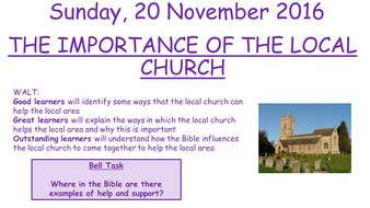 Edexcel 2016 New GCSE Year 10 Living the Christian Life - (Importance of the Local Church)