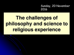 Challenges to religious experience from philosophy and science