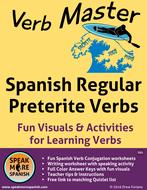 Spanish Verb Master Worksheets * Regular Preterite Verbs * Verbos Regulares del Pretérito Español
